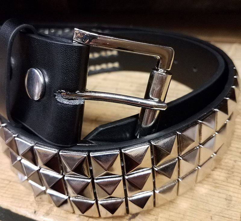 3 Row Pyramid Belt- Black Vegan (NON-LEATHER!)