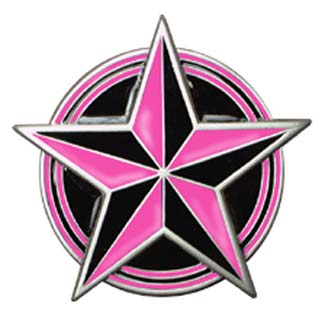 Pink & Black Nautical Star belt buckle (bb137)