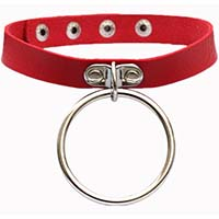 Luna Large Ring Choker by Banned Apparel - red