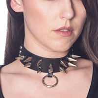 Guano Spike Black Vegan Choker by Banned Apparel
