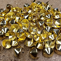 "1/2"" Cone Studs- GOLD- 100 pack (14x6mm)"