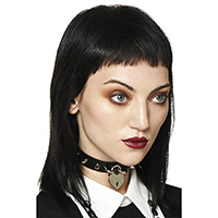 Bellatrix Heart Lock & Spike Choker by Banned Apparel - Black
