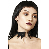 Nightfall Bat Heart Choker by Banned Apparel