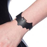 Nightwing PVC Bat Bracelet by Banned Apparel - in black