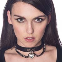 Mirage Heart Choker by Banned Apparel - in black faux leather