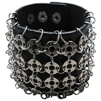 Circle Chain Cuff Bracelet by Dead Threads