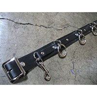5 Ring Bondage Belt by Ape Leather - Black Leather