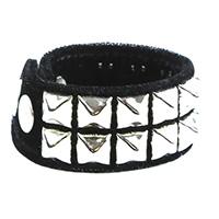 2 Row Pyramid Bracelet by Funk Plus- Black Velvet