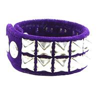 2 Row Pyramid Bracelet by Funk Plus- Purple Velvet