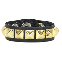 1 Row BRASS Pyramid Bracelet by Funk Plus