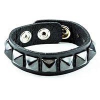 1 Row BLACK Pyramid Bracelet by Funk Plus