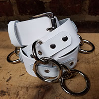 Bondage Belt- White Leather