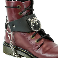 Doorknob Ring Black Leather Bootstrap by Funk Plus