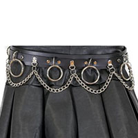 Bondage Belt With Chains (Black Leather)  by Funk Plus