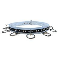 Bondage Belt (White/Black Vegan) by Funk Plus (Non-Leather)