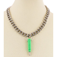 Bullet Pendant & Chain by Funk Plus (Green)
