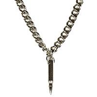 Bullet Pendant & Chain by Funk Plus (Nickel/Nickel)
