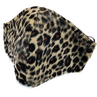 Fuzzy Leopard Facemask by Funk Plus- Brown Leopard (Sale price!)