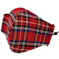 Red Plaid Facemask by Funk Plus (Sale price!)