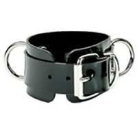 2 D-Ring Bracelet by Funk Plus- Black Vinyl