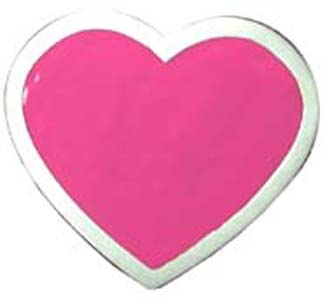 Pink Heart belt buckle (bb140)