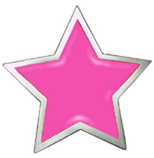 Pink Star belt buckle (bb141)