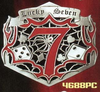 Lucky 7 belt buckle (bb230)