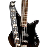 Skull & Crossbones Guitar Strap by Funk Plus