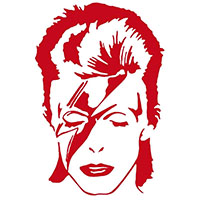David Bowie- Alladin Sane Window Sticker (3 colors)