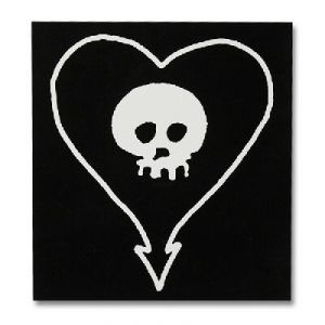 Alkaline Trio- Heartskull sticker (st164) (Large sticker!)