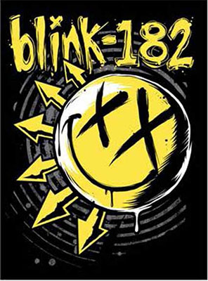 Blink 182- Logo sticker (st244)