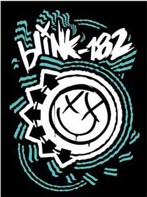 Blink 182- Logo sticker (st243)