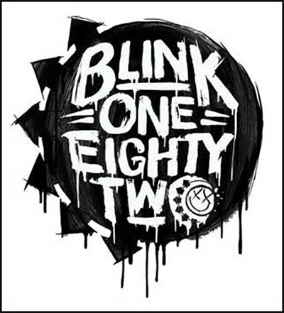 Blink 182- Logo sticker (st242)