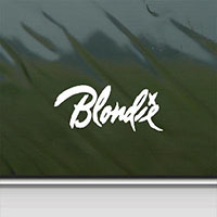 Blondie- Logo Window Sticker