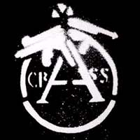 Crass- Cracked Gun Sticker (st725)
