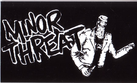 Minor Threat- Logo And Bottlehead sticker  st354 Minor Threat Logo
