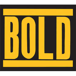 Bold- Logo sticker (st518)