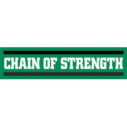 Chain Of Strength- Long Logo sticker (st519)