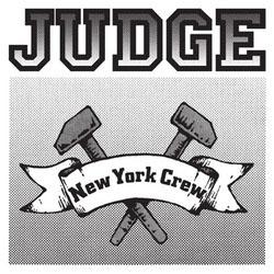 Judge- New York Crew (White & Black) sticker (st521)