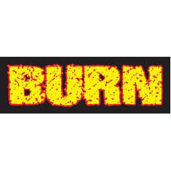 Burn- Logo sticker (st525)