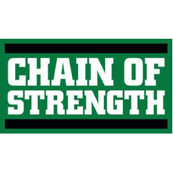 Chain Of Strength- Stacked Logo sticker (st526)