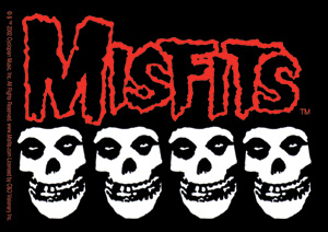Misfits- 4 Skulls sticker (st407)