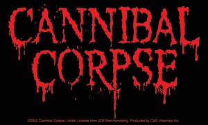 Cannibal Corpse- Logo sticker (st408)