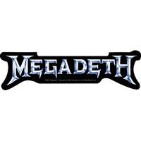 Megadeth- Silver Logo sticker (st345)