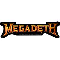 Megadeth- Gold Logo sticker (st346)