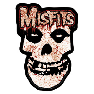 Misfits- Bloody Skull sticker (st419)