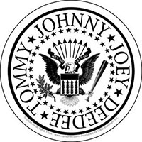Ramones- Presidential Seal (White) sticker (st304)