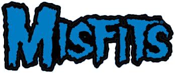"Misfits- Oversized (11"" Long!) Logo Sticker- BLUE"