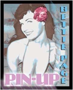 Bettie Page- Pin-Up sticker (st559)