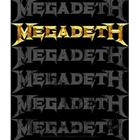 Megadeth- Multi Logo sticker (st332)